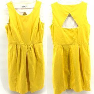 Yellow Calvin Klein Sheath Dress Size 12